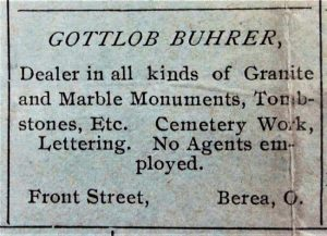 Woodvale Cemetery | Gottlieb Buhrer Page 2 Image 0003