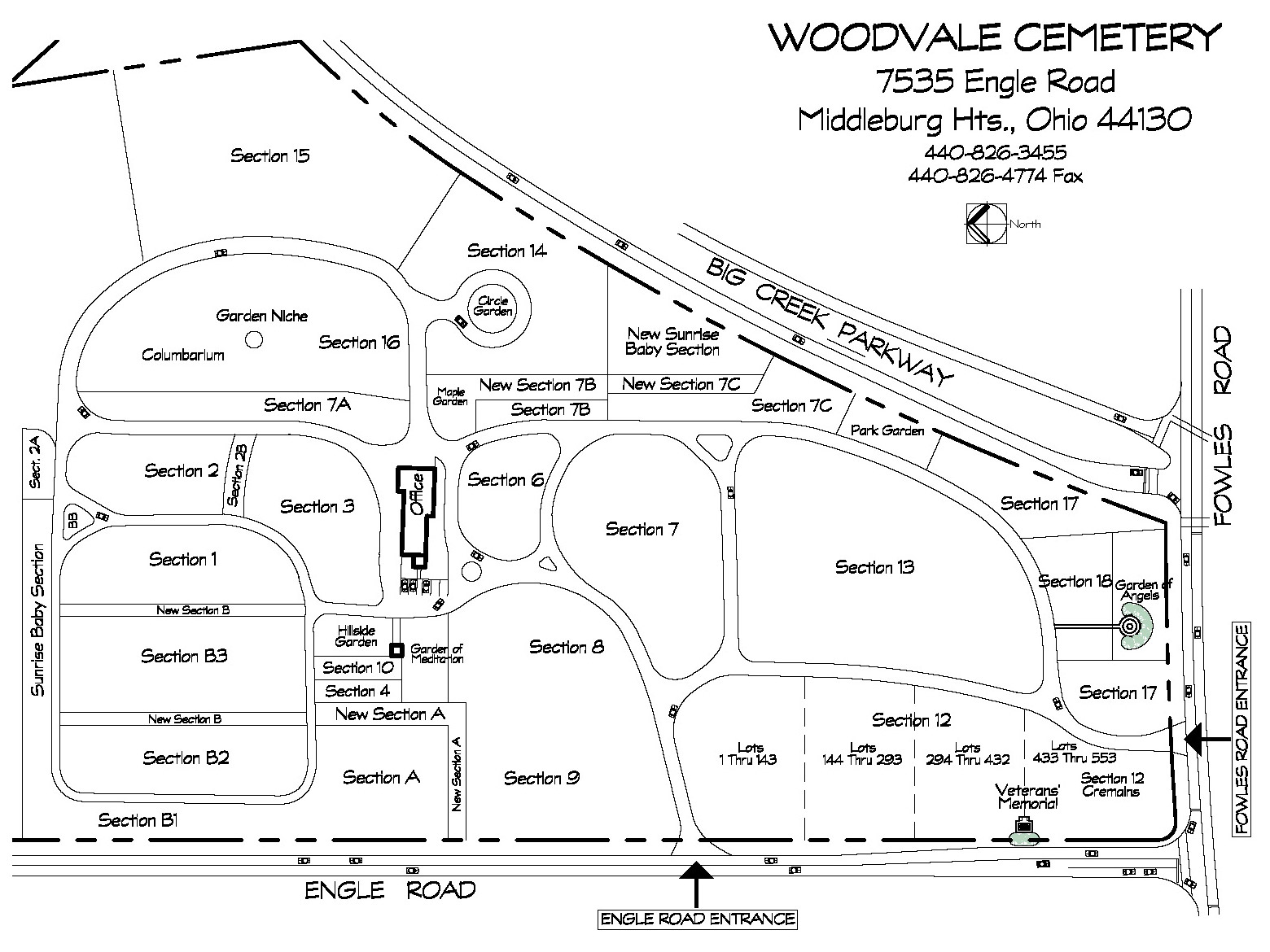 Woodvale Map